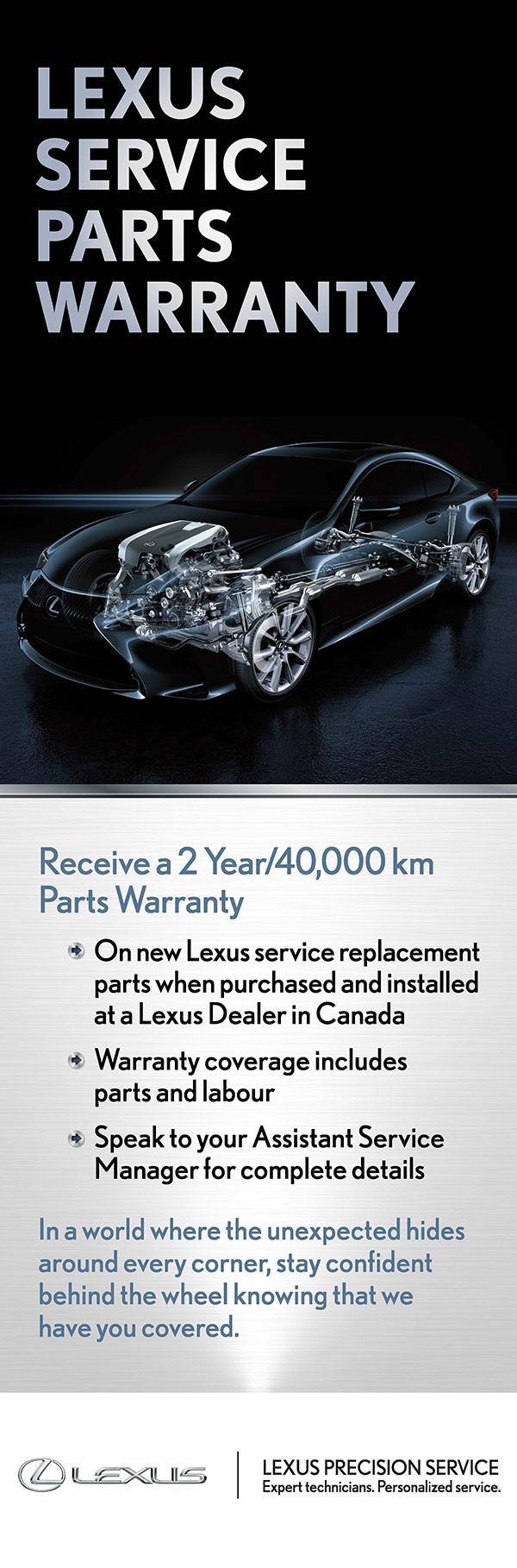 lexus of barrie service specials parts warranty information